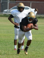 Abilene High running back Terrell Franklin runs the
