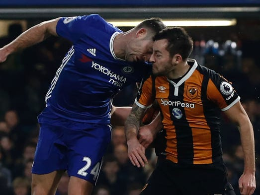 Chelsea defender Gary Cahill and Hull City midfielder