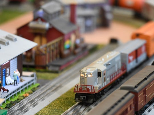 Detailed model train display at the Local Loco Model Railroad Club show held at the library Saturday and Sunday, January 15, 2017.