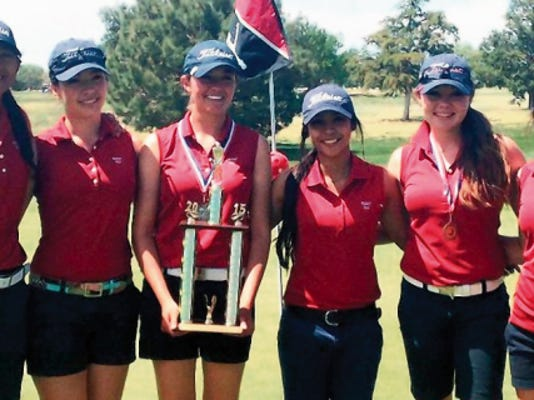 The Deming Lady Wildcats picked up their sixth tournament win in as many outings at the Spring Classic in Roswell. From left are: Alyssa Magana, Linda Cisneros, Shelby Turner, Alexia Morales, Darian Zachek and Josey Jackson.