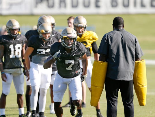 LAF Purdue football practice Aug 9