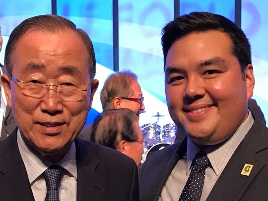 Pictured from left: Ban Ki-moon, former secretary general
