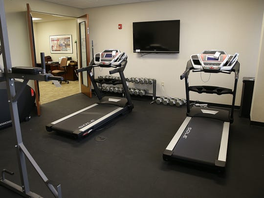 Kevin Modany had a personal gym at ITT's Carmel headquarters.