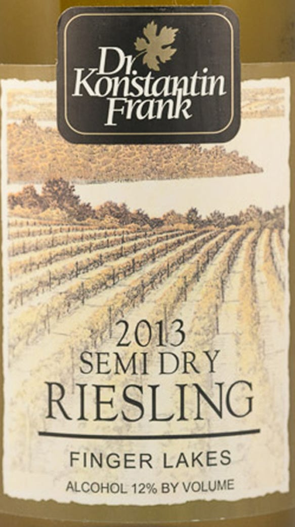 The 2013 Semi-Dry Riesling tied for best white wine