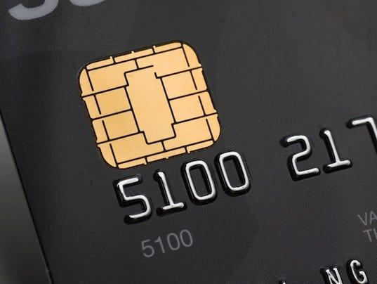 EMV chip credit card