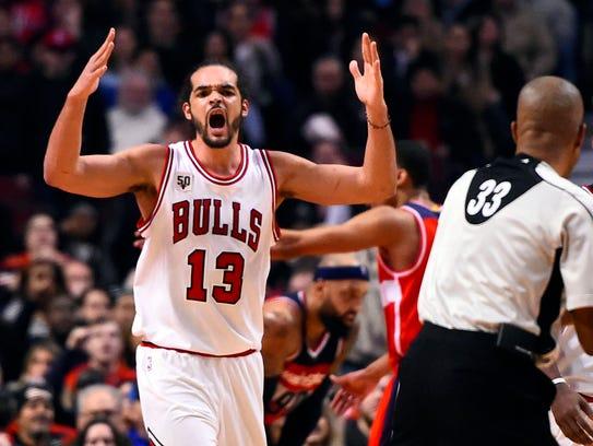 Jan. 11, 2016: Bulls center Joakim Noah can't believe