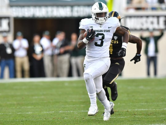 LJ Scott is expected to carry Michigan State's backfield in 2018.
