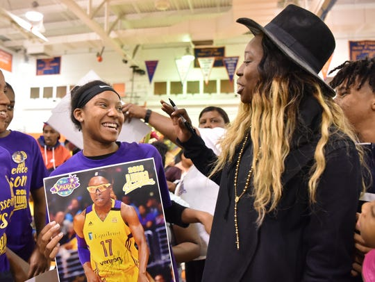 Paterson native Essence Carson, who was a star player