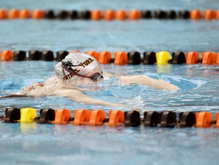Central York's Callie Paff swims the girls' 200-yard