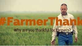 The #FarmerThanks logo