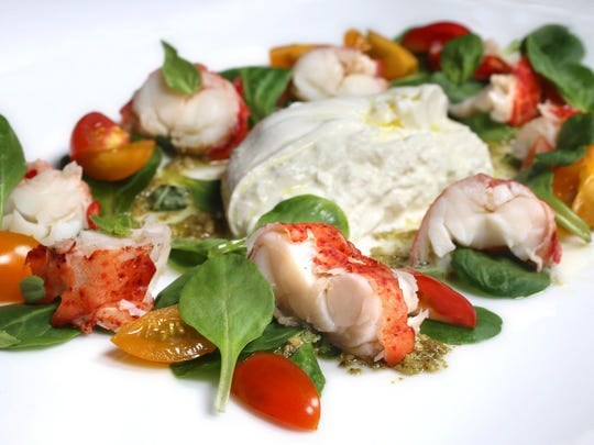 In Good Taste. Lobster Burrata Mache Salad.