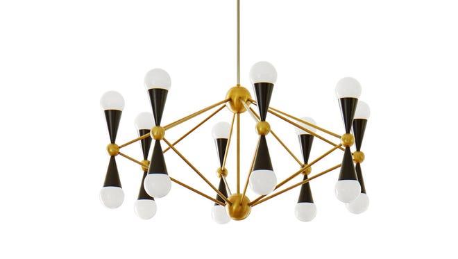 The Jonathan Adler Caracas 12-arm chandelier.