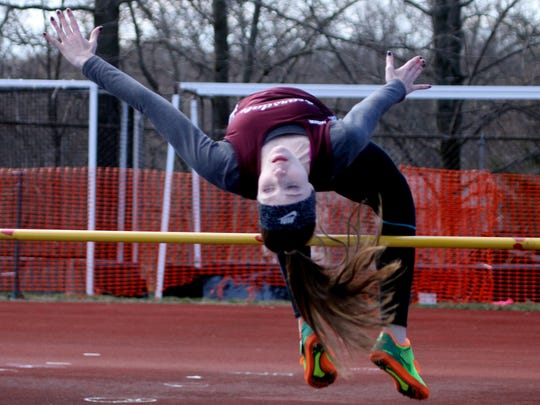 Kendall Bensche of Scarsdale won the high jump event
