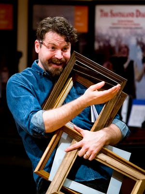 """As part of the Actors' Renaissance Season, Josh Innerst (Careless) in rehearsal for """"The School for Scandal,"""" opening Feb. 2 at American Shakespeare Center's Blackfriars Playhouse in Staunton."""