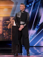 Aaron Crow was an imposing figure when he performed on NBC's 'America's Got Talent.'