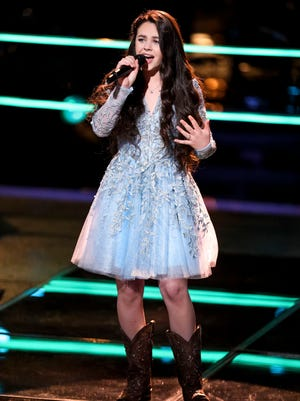 """Farmington's Chevel Shepherd advanced to the """"Knockout Rounds"""" of NBC's """"The Voice"""" on Monday with her winning """"Battle Round"""" performance."""
