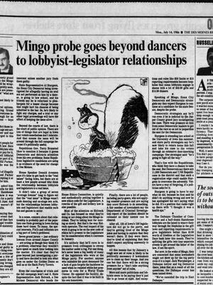 The Des Moines Register covered the notorious Mingo bachelor party.