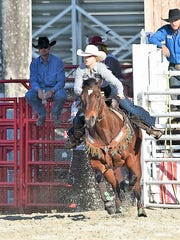 Barrel racer Lauren Santagata, 17, of Palm City, will compete this weekend at the Indiantown Rodeo.