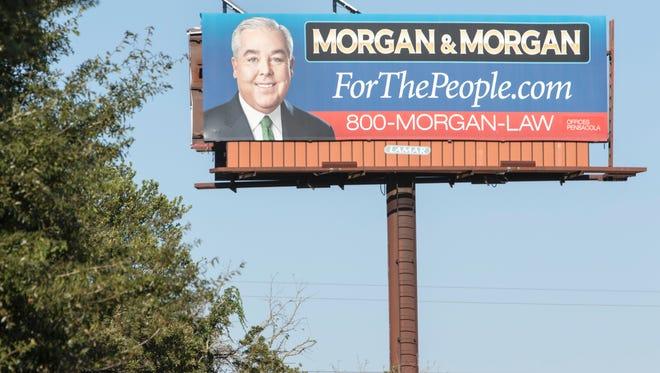 Morgan & Morgan law firm billboards in Pensacola on Friday, October 7, 2016.