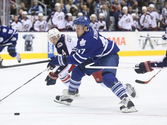 USP NHL: COLUMBUS BLUE JACKETS AT TORONTO MAPLE LE S HKN CAN ON