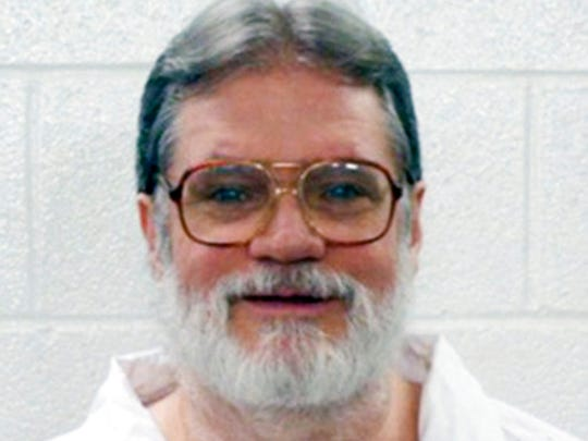 This undated file photo provided by the Arkansas Department of Correction shows Bruce Earl Ward, who has been scheduled for execution April 17, 2017. The Arkansas Supreme Court has halted the execution of Ward, one of two inmates facing lethal injection Monday under the state's multiple execution plan. Justices on Friday, April, April 14,2017, issued a stay in the execution of Bruce Ward, one of seven inmates the state plans to put to death before the end of the month.