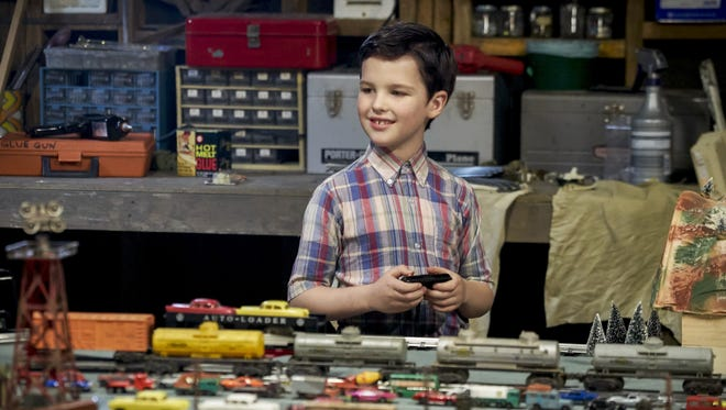 Sheldon Cooper (Iain Armitage) loved trains as a boy, too, as this picture from 'Young Sheldon' illustrates.