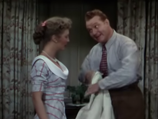 """Baby, It's Cold Outside,"" which is featured in this scene from ""Neptune's Daughter,"" may be on the outside looking in during this holiday season."