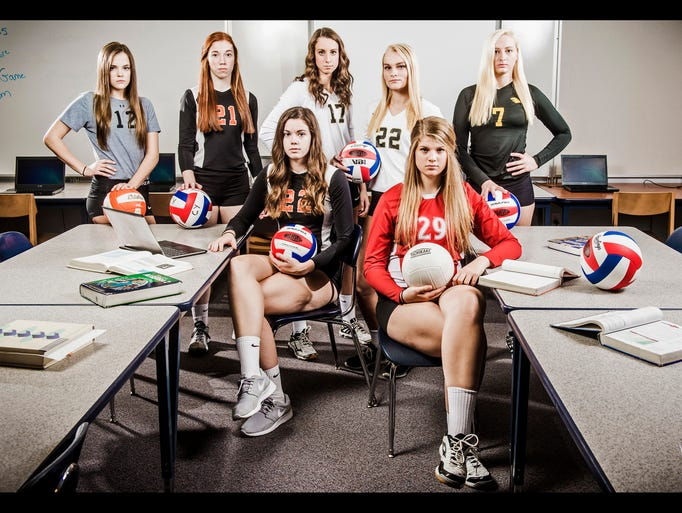 Seated row, from left to right: Central York's Emily