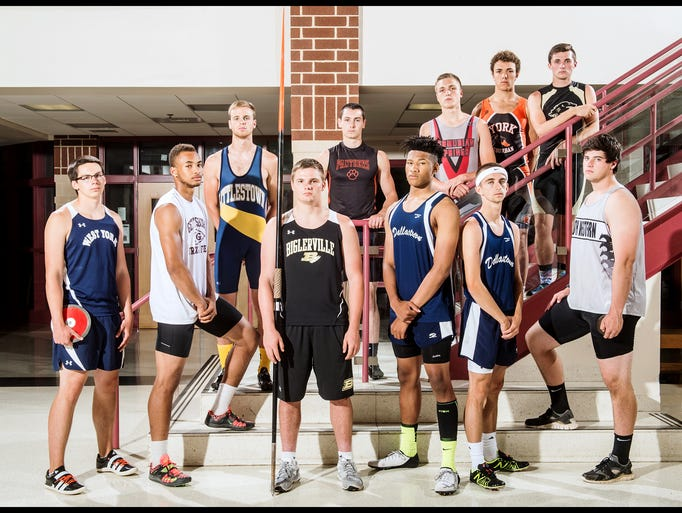 Front row, left to right: West York's Luke Hoffman,