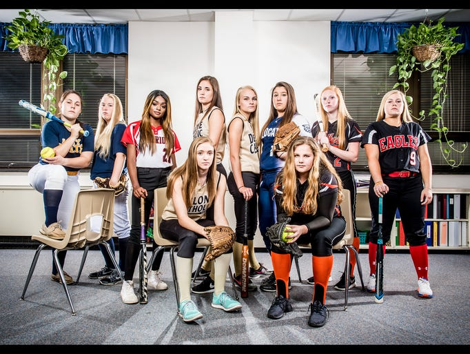 Seated, from left to right: Delone Catholic's Cassie