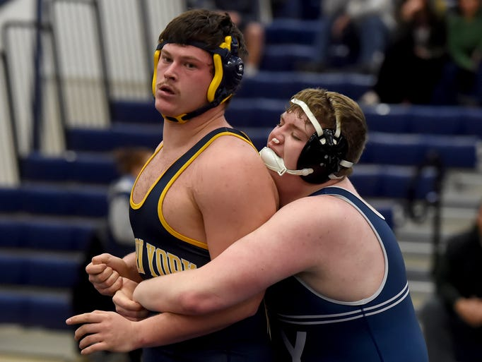 West York's Frank Veloce, right, defeated Eastern York's