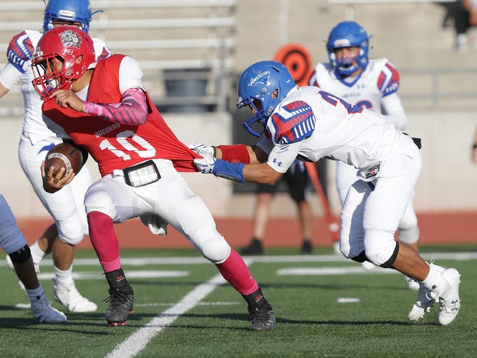 Americas defeated Socorro 45-0 Friday in a game which