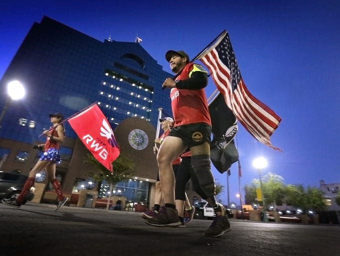 The first leg of the Team RWB Old Glory relay was made