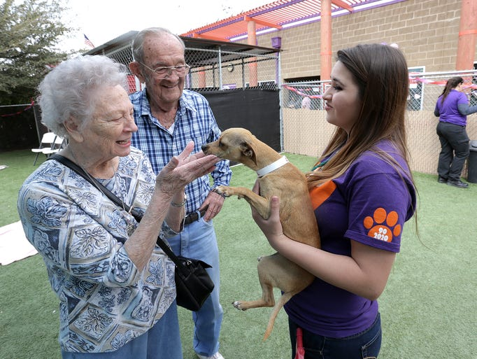 """The Animal Services Shelter held a """"Lucky in Love"""""""