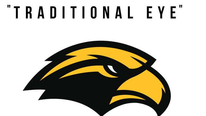 "Southern Miss On Monday, Southern Miss officially released its new ""traditional eye"" logo."