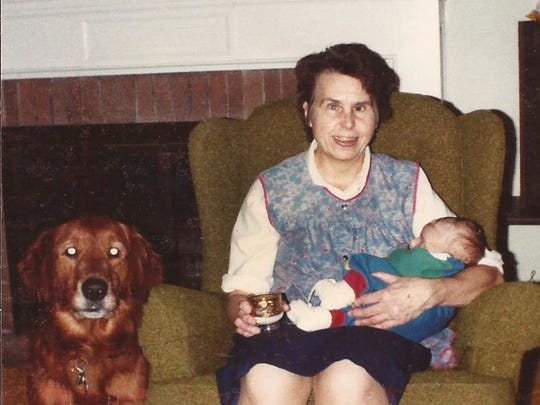 Rosemarie Deisinger, shown here in 1984, was blind, so the kids all pitched in to help cook.