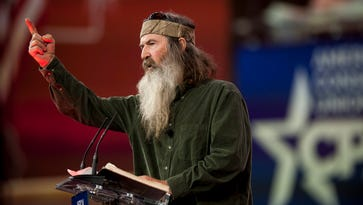 Phil Robertson addresses the American Conservative Union's 42nd Annual Conservative Political Action Conference Feb. 27.