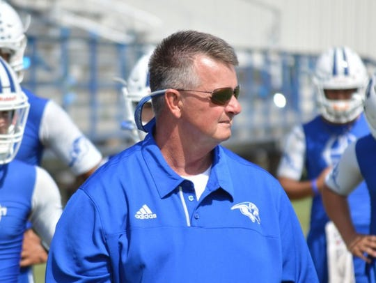 Stamford coach Ronnie Casey, shown here during a 2016