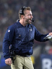 Rams coach Sean McVay was 30 when he was hired as head coach.