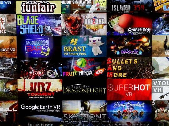There are over 45 games to choose from at the VR Lounge.