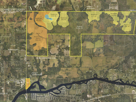 Babcock developer Syd Kitson unveiled plans for his developmeent in Lee County to residents of Alva Thursday evening.  Kitson expects to submit a development application in September.