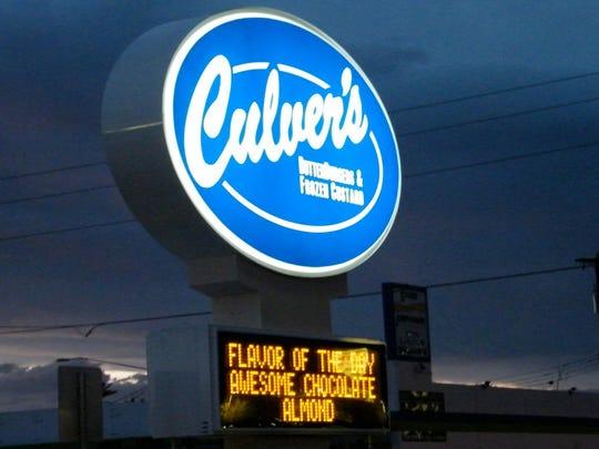 Exterior sign at Culver's in Phoenix.