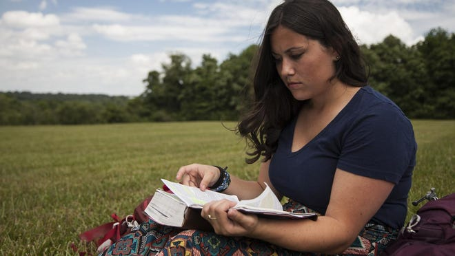 Twenty-two year old WKU graduate, Morgan Green, will soon be departing on an 11 month mission trip with the World Race organization. In preparation for her trip, Green has been meditating on the book of Exodus in The Bible. June 14, 2015.