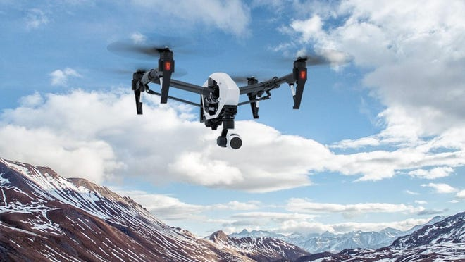 DJI's Inspire 1 drone supports two simultaneous users: one pilots the drone and the other can pan and tilt the camera around.
