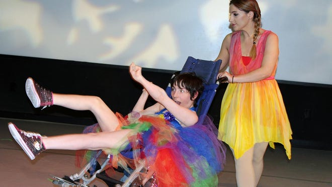 """""""Zip A Dee Doo Dah"""" performed by Arts Access dancer Dani Urso-King and professional dancer Patty Romano. The dance was choreographed by Urso-King."""