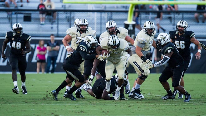 The UCF spring game drew quite a crowd Saturday evening.