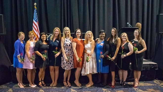 The Junior League of Fort Myers recently installed their incoming board members for the 2016-2017 calendar year. Pictured: Molly Caldaro, Rebecca Antonucci, Jessica Steinberg, Katie Isaac, Laurie Moore, Carly Leotti, Jenine Kent, Shavon Chester, Mandy Carter, Carrie Gil and Erin Velotti.