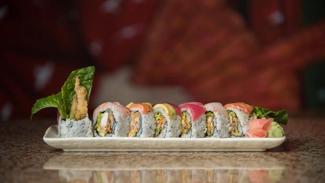 The Texas Rambo Roll at Sushi Murasaki.