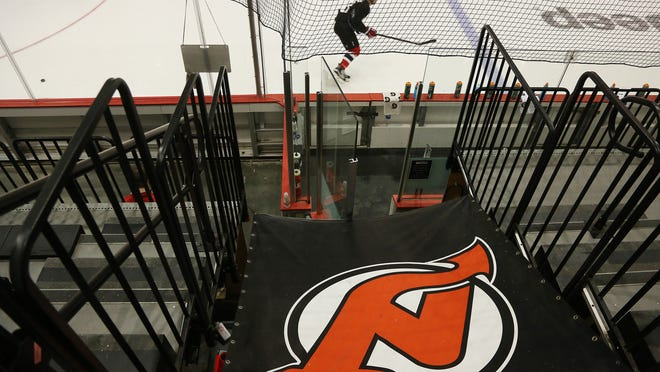 The New Jersey Devils opened training camp today at the Barnabas Health Hockey House, part of the Prudential Center.