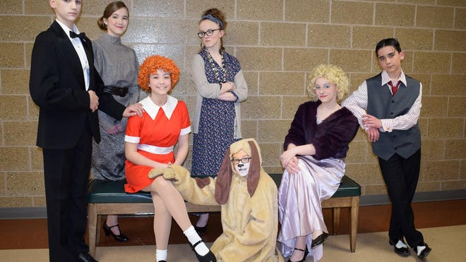 """Vestal Middle School will present three performances of """"Annie Jr."""" this weekend."""